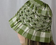 4 Hat Patterns To Sew, Pattern Sewing, Plaid, Hats, Skirts, Unique, Handmade, Shopping, Vintage