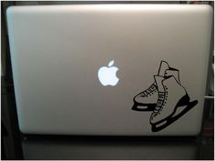 Ice Skate Macbook Vinyl Decal Sticker FREE SHIPPING