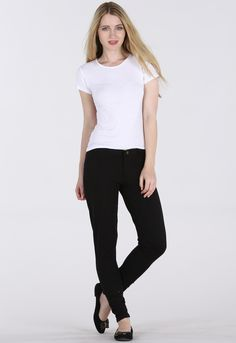 CLEAN NAVY MID WAIST JEGGINGS