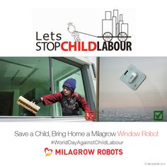 #LetsStopChildLabour Bring Home a Milagrow #LawnMower #Robot Today, Make a Child Happy ! #worlddayagainstchildlabor