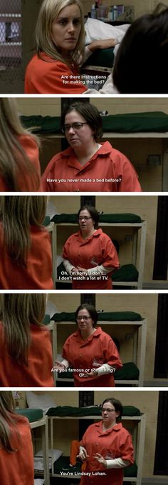 """This inmate's flawless grasp of pop culture: 