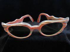 vintage 1950 women's cat eye sun glasses pink by thelongacreflea, $34.00