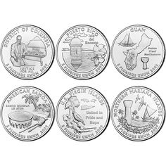 D BU Statehood Quarters 10 coin Set Uncirculated 2004 P