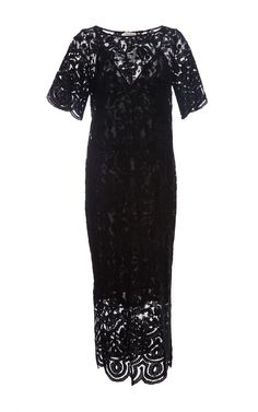 Black Lace Applique Embroidery Dress by Suno Now Available on Moda Operandi