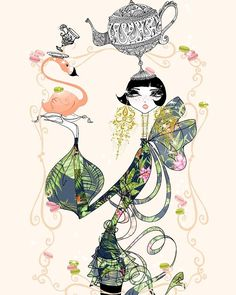 ⭐⚫⚫⭐...............#soniamenti #illustration #illustrator #fashionillustration #fashiondrawing #drawing #artwork #floral #pastel #pink #flamingo #teapot #teaparty #sundaymood #instaart #jewelry #bigbow #fashionart  #sweets #feminine #bohochic #beauty #macarons