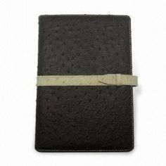 Notebook, Made of Leather or Duplex Board Cover, Customized Artworks are Accepted