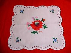 Vintage Hungarian handmade embroidered doily with Kalocsa flower pattern by Hajni'sVintage, $10.50 USD