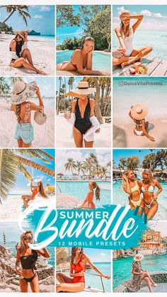 Summer Bundle - 12 Mobile Lightroom  Presets - 4 Preset Packages with the price of 2 #lightroompresets #bundle #mobilepresets #travelblogger #summer#blogger #travel #lrpresets Beach Flatlay, Feeds Instagram, Vsco Themes, Photo Editing Vsco, Free Beach, Photography For Beginners, Real Estate Marketing, Lightroom Presets, Disney