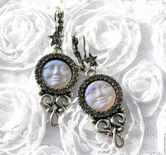 Купить Серьги Зачарованная Луна,Kirks Folly,США,серёжки,красивый подарок,лицо - подарок