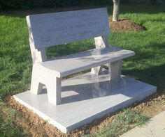 Granite Benches: Granite Memorial Benches - Cemetery Benches