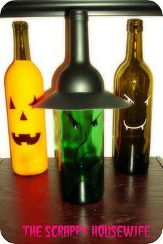 More wine bottle decor