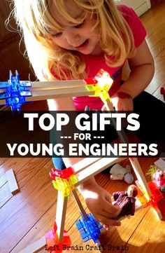 Need holiday or birthday gifts for your aspiring, young engineers? This gift guide for kids ages 3-7 has the best toys and games for STEM skill fun.