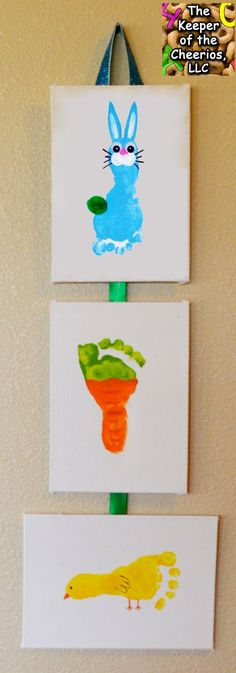 Easter Hand Print and Footprint Crafts | The Keeper of the Cheerios