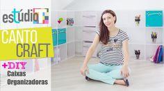 Estúdio T 🏠 A REFORMA!   Ep. 08 - Canto Craft   Caixas organizadoras DIY