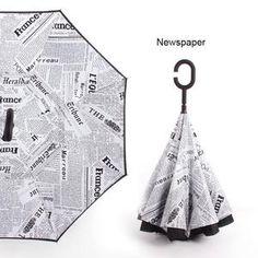 210b926cd59cd C Handle Windproof Reverse Folding Umbrella Man Women Sun Rain Car Inverted  Umbrellas Double Layer Anti UV Self Stand Parapluie