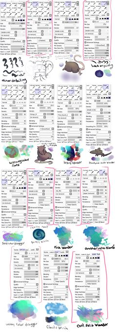 paint tool sai brush settings by Vullo.deviantart.com on @DeviantArt
