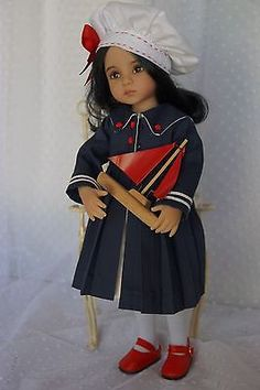 Effner-13-Little-Darling-SAIL-AWAY-WITH-ME-Ensemble-by-Ladybugs-Doll-Designs. Ends 9/7/14. SOLD for one bid of $62.00