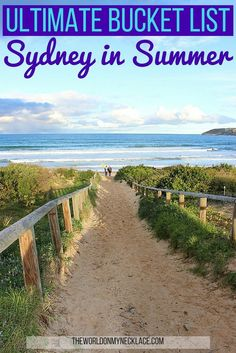 The Ultimate Bucket List for Sydney in Summer. Summer in Sydney has officially started and I put together this bucket list for a Summer in Sydney - things to do in Sydney that aren't so obvious. Click through to see my Summer in Sydney Bucket List! | The World on my Necklace #sydney #bucketlist #australia #summer