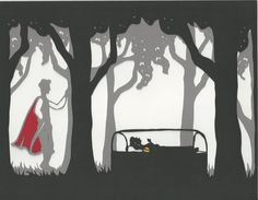 Paper Cut Silhouette Snow White by Twinnovations on Etsy, $25.00