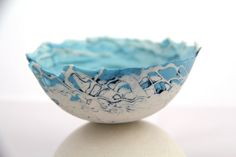 I love this - so delicate! Limoges Porcelain Handmade Bowl by etsycol on Etsy, £25.00