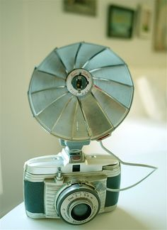 "You popped the bulb in, took the photo and the bulb literally ""flashed"" ......vintage camera goodness"
