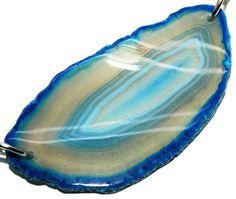 Freesize Blueish Agate Slab Gemstone Loose Beads