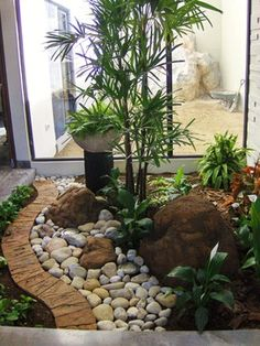 tropical garden Tropical Landscape Design Ideas, Pictures, Remodel and Decor Tropical Landscaping, Front Yard Landscaping, Landscaping Ideas, Tropical Gardens, Landscaping Software, Tropical Plants, Backyard Ideas, Small Gardens, Outdoor Gardens