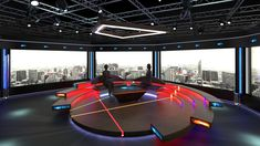 Buy Virtual TV Studio Chat Set 2 by on Virtual sets that are required for any modern show for TV channels. - Is a high quality model to add mo. Tv Set Design, Stage Set Design, Kiosk Design, 3d Design, Render Design, Logo Design, Plateau Tv, Autocad 2010, Virtual Studio