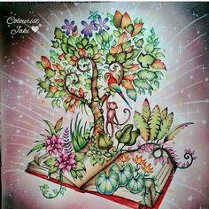 Magical Jungle tree book monkey
