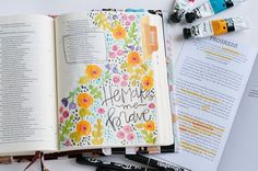 Bible Journaling by @bumbleandbristle                                                                                                                                                                                 More