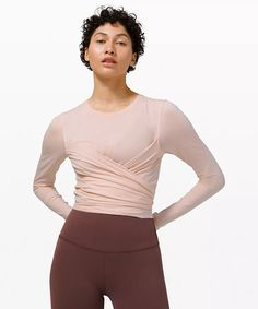 Gather and Grow Long Sleeve | Women's Long Sleeve Tops | lululemon High Rise Pants, Long Sleeve Tops, Lululemon, Cotton Fabric, Sleeves, How To Wear, Clothes, Style, Athletic Wear