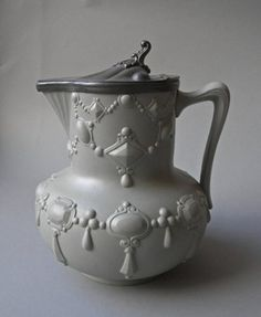 Ridgway jug c.1850-1860. Design emulates gem set jewelry. British Museum