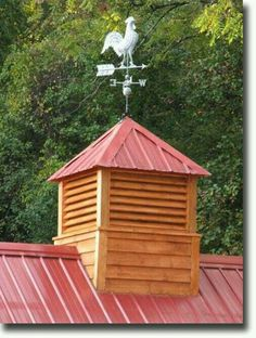 Simple cupola though I would paint the wood white to match the house color.