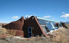 "Taos, New Mexico. Known as 'Sol Ship,"" the one bedroom, one-bath ""earthship"" uses a passive solar heating and cooling system for off-the-grid living."