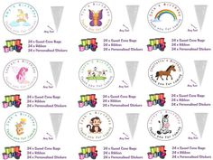 24 x diy #personalised sweet sweetie cone #birthday #party loot bags do it yourse,  View more on the LINK: http://www.zeppy.io/product/gb/2/132081699855/