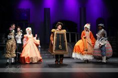 Disney's Beauty and the Beast Jr Costumes: Cogsworth, Lumiere, Vanity, Mrs Potts, Wardrobe, and Chip Available for Rent! www.spotlight.org/rentals
