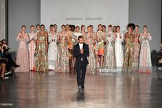 Designer Salvatore Piccione walks the runway after the Piccione.Piccione show during Milan Fashion Week Spring/Summer 2018 on September 24, 2017 in Milan, Italy.