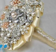 Champagne & Pearls - Blue Petyl Bouquets