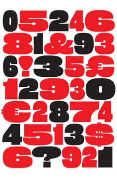 Eames poster numerals for House Industries by Erik van Blokland
