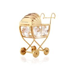 Gorgeous Decoration Keepsake and D/écor Matashi 24k Gold Plated Large 8 Table Top Ornament Gift for Thanksgiving New Year w Crystals Love Ornamental Christmas