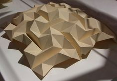 62 Ideas For Origami Architecture Geometry Triangles Origami Artist, Origami Paper Art, Paper Crafting, Origami Bird, Kirigami, Origami Design, Architecture Origami, Architecture Art, Geometry Triangles