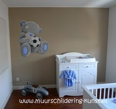 muurschildering babykamer me to you