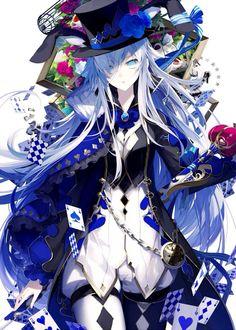 Anime blue mad hatter