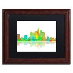 Los Angeles California Skyline II by Marlene Watson Framed Graphic Art