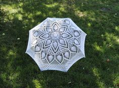 Wedding umbrella Crochet umbrella White lace umbrella Wedding