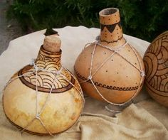 """Gourd Water Containers & """"Net"""" Carry Bags/Slin in Pottery, Basketry & Fiber-arts Forum"""