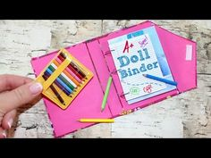 How to make Doll Binder | DIY Simple School Supplies Doll Crafts - YouTube