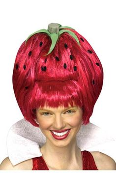 Adult Strawberry Tart Wig
