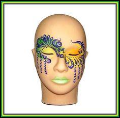 Mardi Gras Memory by SilentMoonlitSiren on DeviantArt, Mardi Gras Mask by Prair. - Mardi Gras Memory by SilentMoonlitSiren on DeviantArt, Mardi Gras Mask by PrairieChic , - Mime Makeup, Costume Makeup, Makeup Art, Cool Face Paint, Mime Face Paint, Masquerade Makeup, Adult Face Painting, Face Painting Designs, Paint Designs