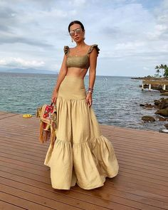 Lässige Plissee Spleißen Pure Color High-Waist Rock - HOTMILIA - Source by markselamin outfits Boho Fashion, Fashion Dresses, Womens Fashion, Fashion Design, Style Fashion, High Fashion, Fashion Ideas, Fashion Tips, Boho Dress